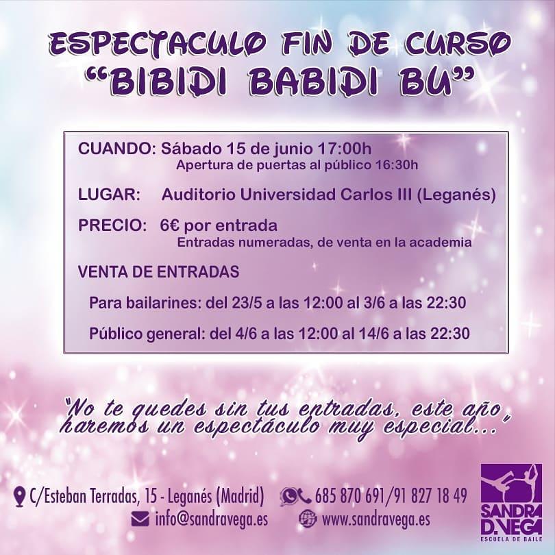 Gala de Fin de Curso con el espectáculo BIBIDI BABIDI BU