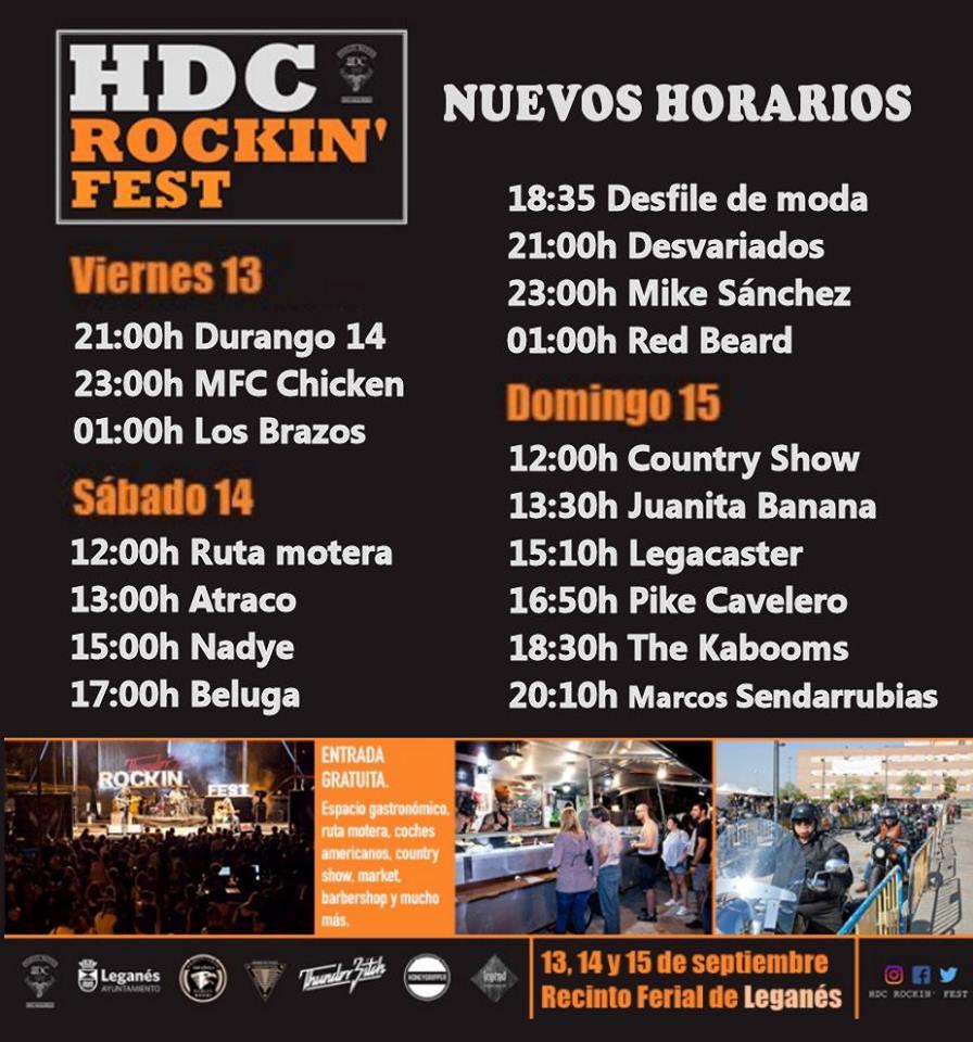 HDC Rockin Fest 2019 en Leganés horarios