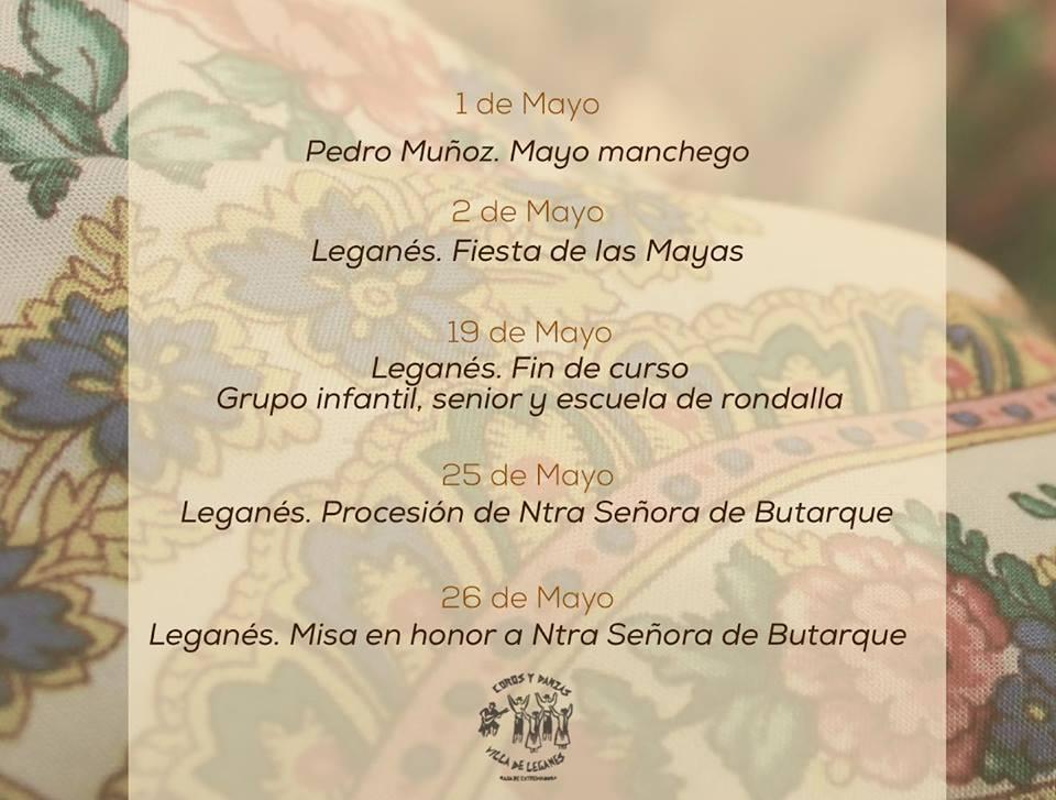 Programación en mayo del Coros y Danzas Villa de Leganés