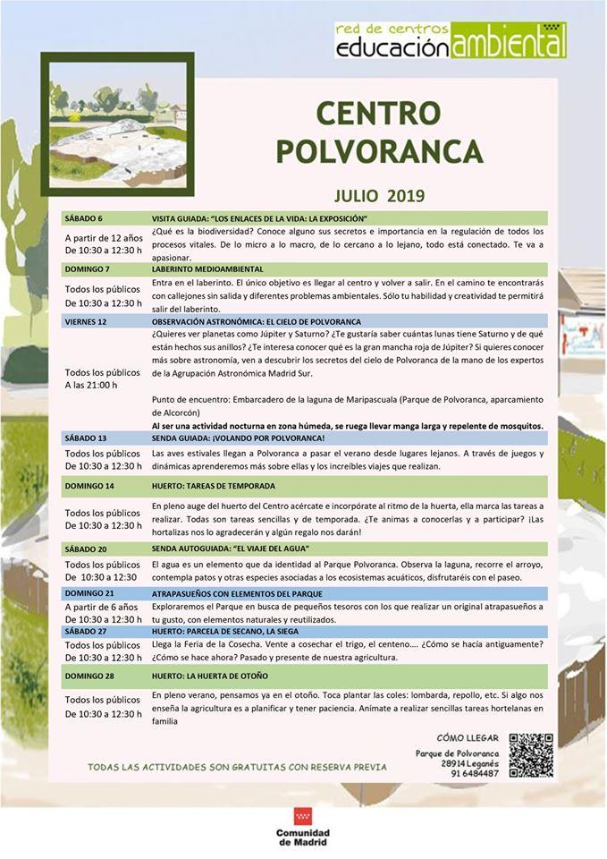 Actividades en el CEA Polvoranca en julio 2019