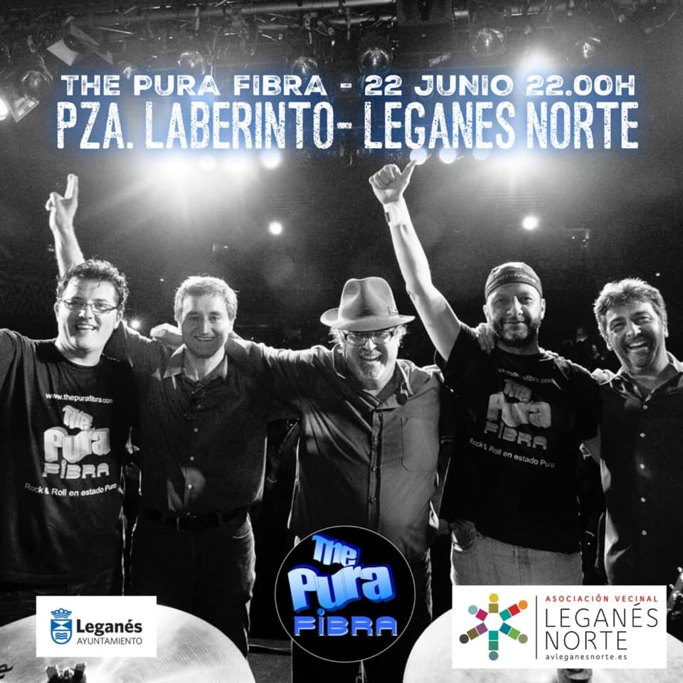 Concierto al aire libre en Leganés Norte The Pura Fibra Band