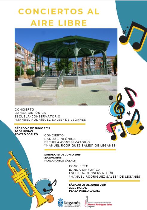 Conciertos al aire libre Escuela Conservatorio Manuel Rodríguez Sales