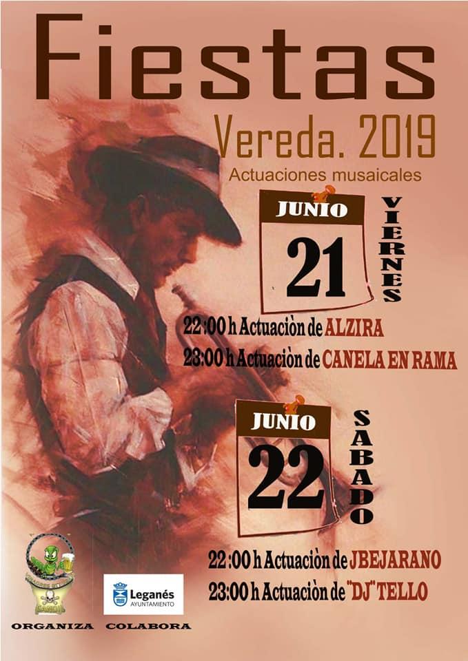 Fiestas en Vereda 2019 conciertos