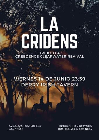 La Cridens en el Derry Irish tributo a Creedence Clearwater Revival
