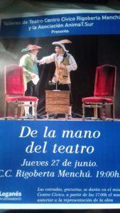 """Teatro """"De la mano del teatro"""" en el Rigoberta"""