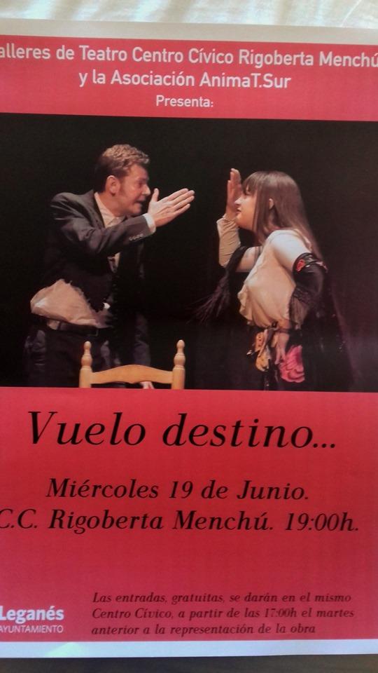 "Teatro ""Vuelo destino"""