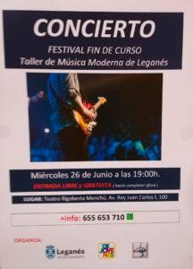 Festival Fin de Curso: Taller de Música Moderna de Leganés