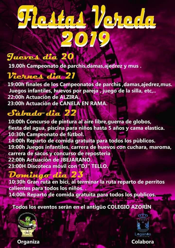 Fiestas en Vereda 2019