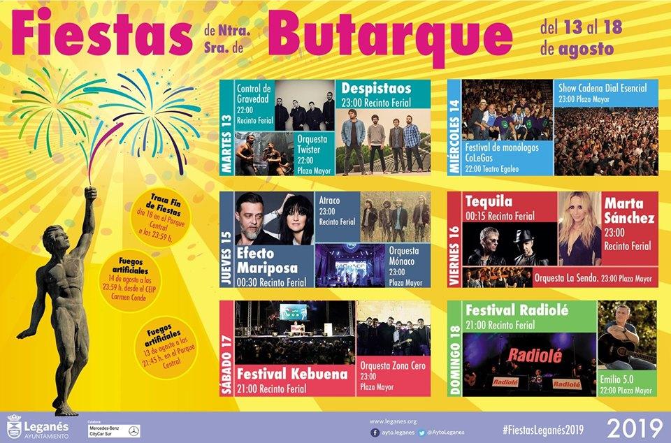 Programa de las fiestas de Leganés 2019