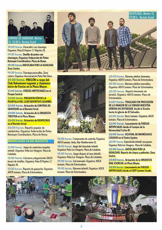Programa fiestas de leganés 2019 Página3