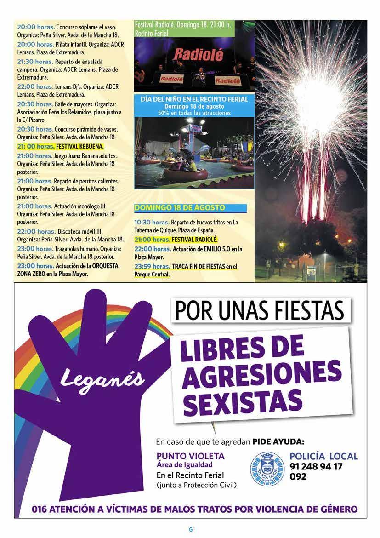 Programa fiestas de leganés 2019 Página6