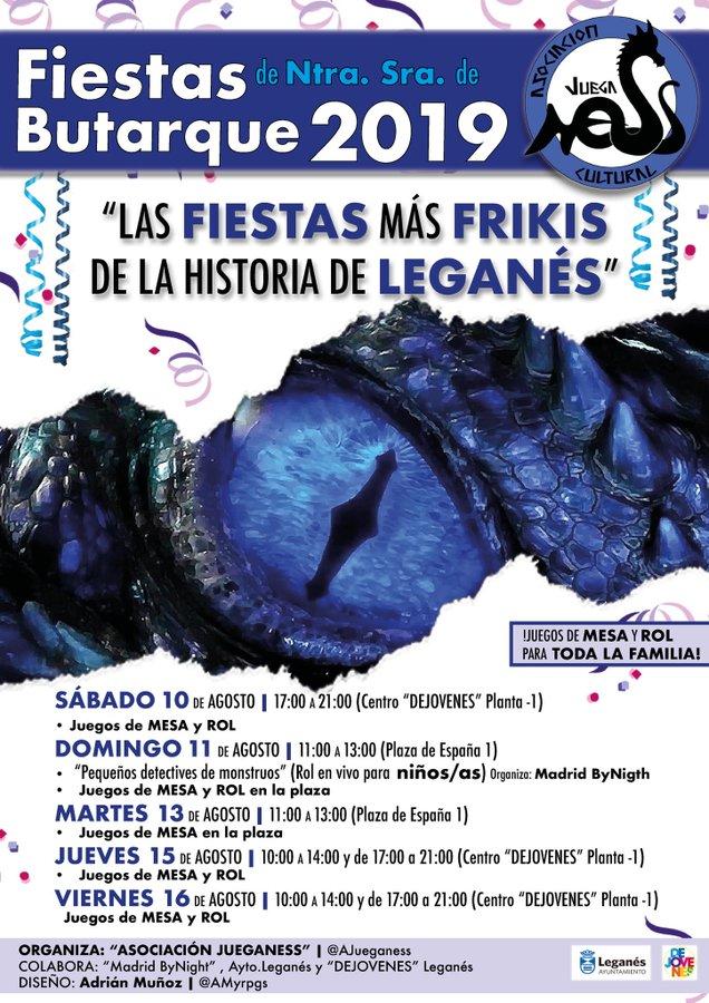 Juegos de mesa y rol en las fiestas de Leganés