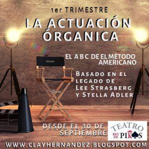 """Clases de """"LA ACTUACIÓN ORGÁNICA"""" en el Teatro Rey de Pikas"""
