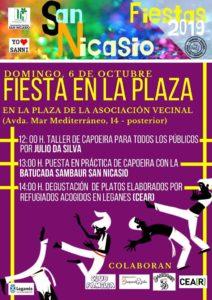 Asociación de Vecinos de San Nicasio fieesta en la plaza