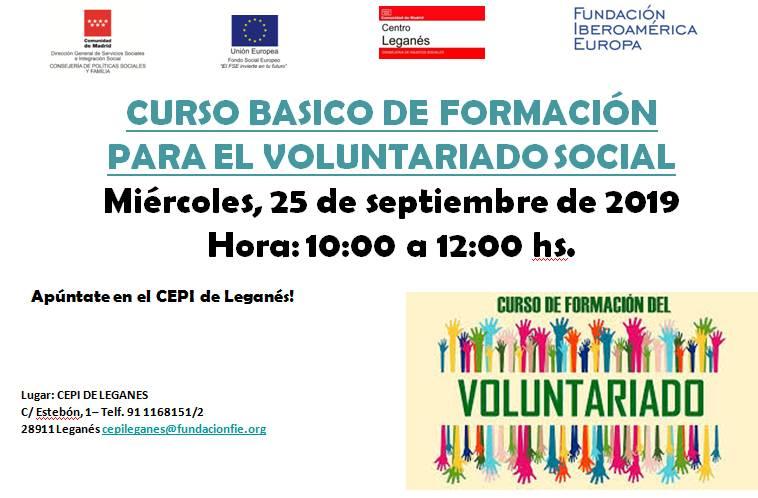 Curso básico de formación para el voluntariado social en el CEPI