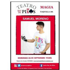 Espectáculo de magia con Samuel en el Teatro Rey de Pikas