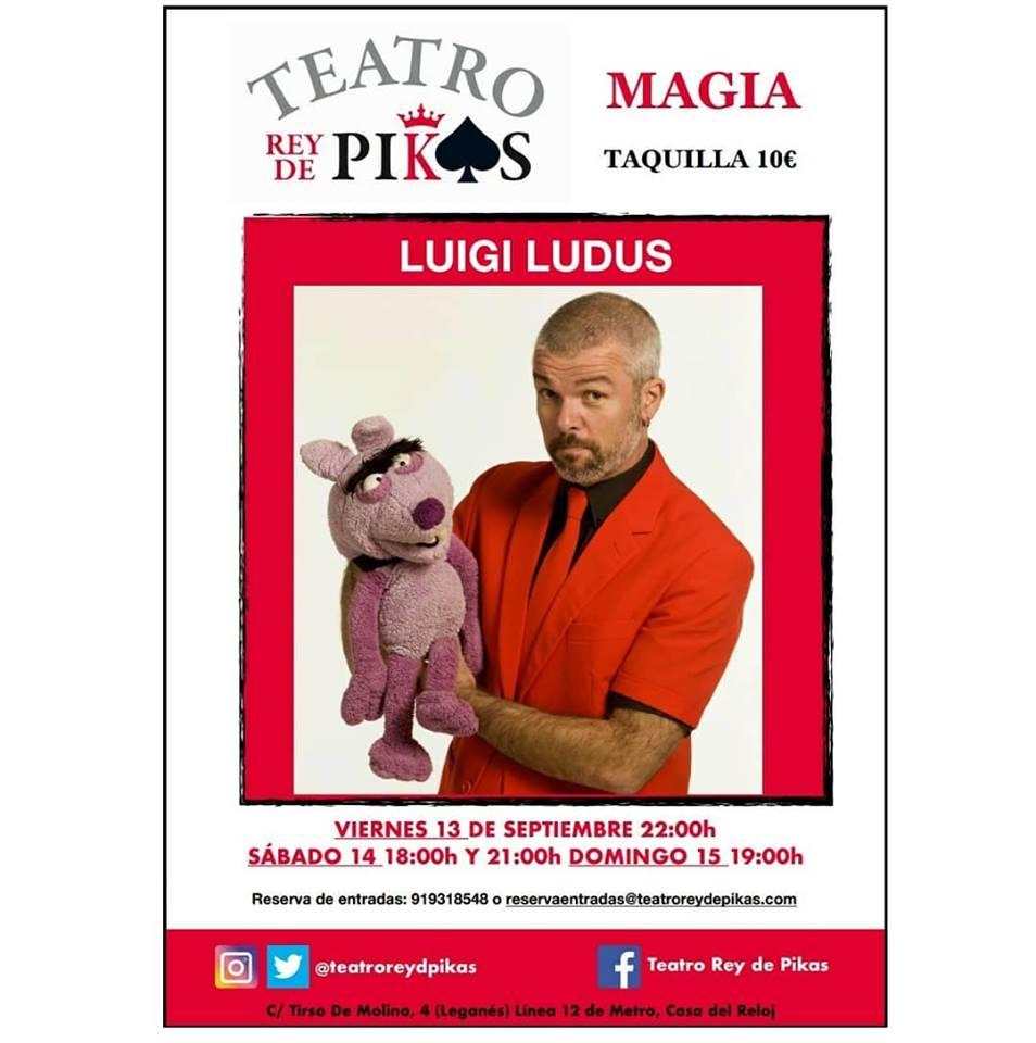 Magia con Luigi Ludus en el Teatro Rey de Pikas
