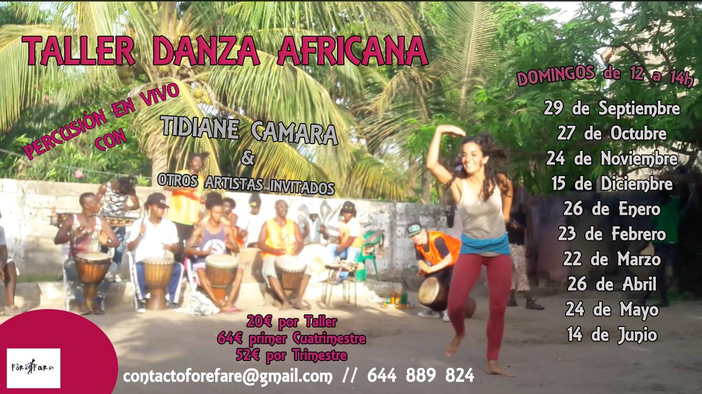 Talleres de Danza Africana con Percusión en Vivo