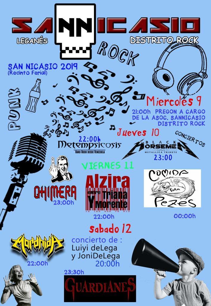 fiestas san nicasio 2019 conciertos san nicasio distrito rock