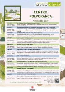 Actividades en el CEA Polvoranca en noviembre 2019