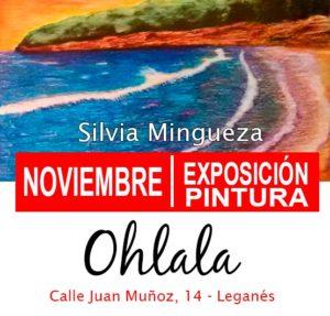 Exposición de pintura en el Ohlala de Silvia Mingueza