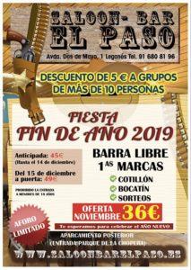 Fiesta fin de año 2019 en el Paso