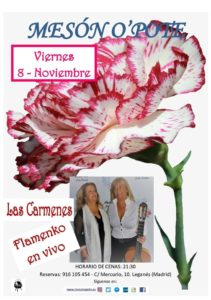 Flamenco en vivo con las Carmenes en el Meson O´pote