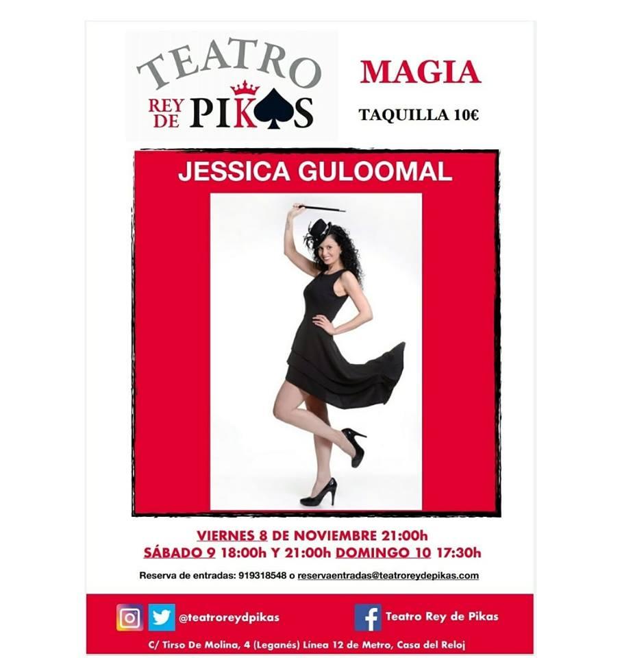 Magia con Jessica Guloomal en el Teatro Rey de Pikas