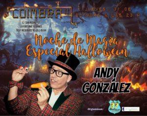 Magia especial Hallowen con Andy González en el Coimbra