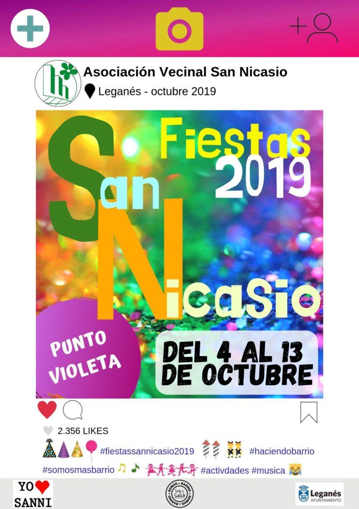 PROGRAMA COMPLETO FIESTAS SAN NICASIO 2019 de la Asociación de Vecinos de San Nicasio