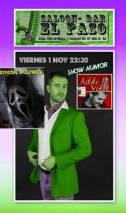 Show de humor con Aido Vidal en el Paso especial Halloween