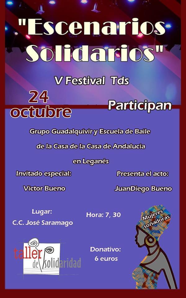 """V festival solidario """"Escenarios Solidarios"""" de Leganés."""