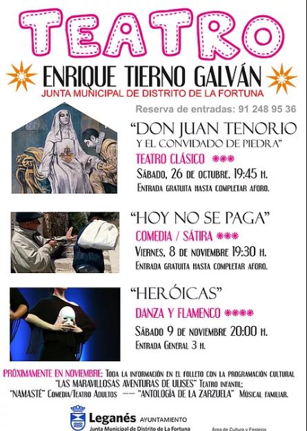 Don Juan Tenorio teatro clásico en La Fortuna