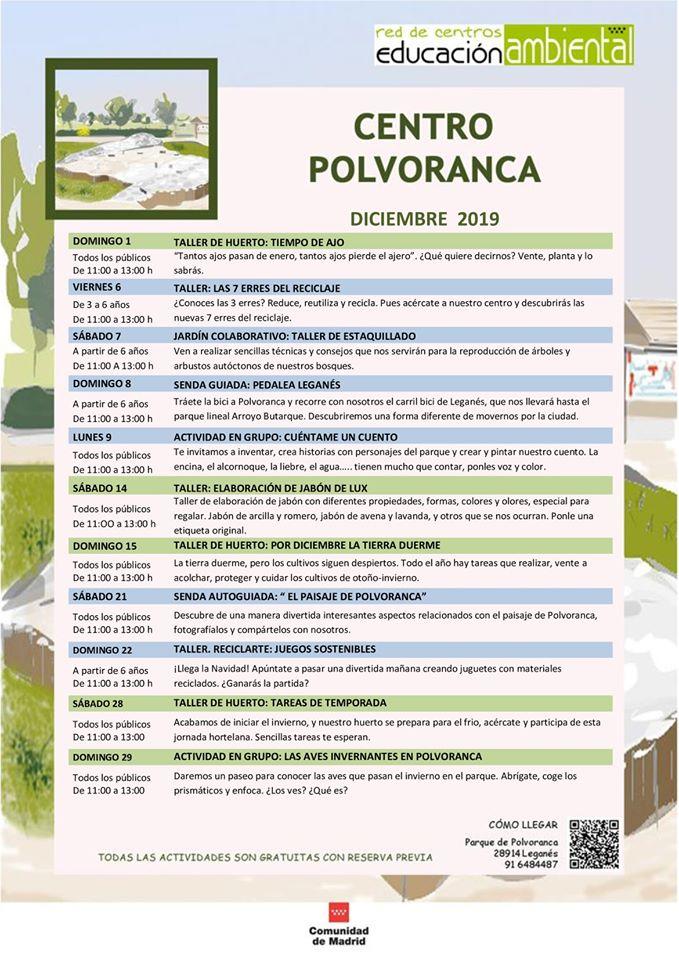 Actividades en el CEA Polvoranca en diciembre 2019
