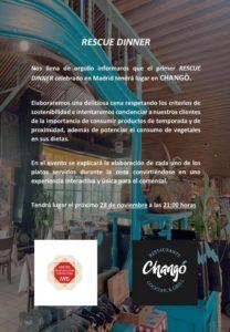 Rescue Dinner en Chango