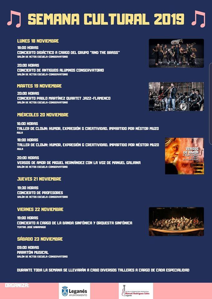 SEMANA CULTURAL Escuela-Conservatorio 'Manuel Rodríguez Sales'