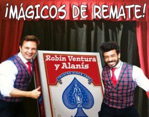 Show de magia en La Cuchara con Robin Ventura y Alanís