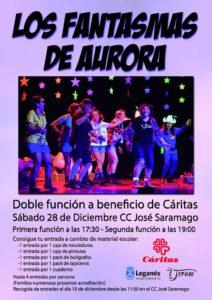 Teatro Los Fantasmas de Aurora a beneficio de Cáritas
