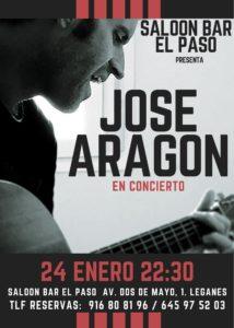Concierto y cena con José Aragón en el Paso