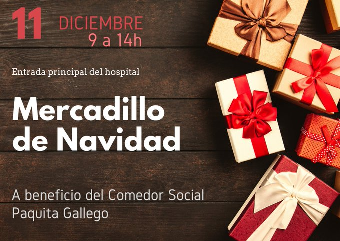 Mercadillo solidario de Navidad en el Hospital Severo Ochoa