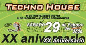 Techno House Festival XX Aniversario 2020 Evento Oficial
