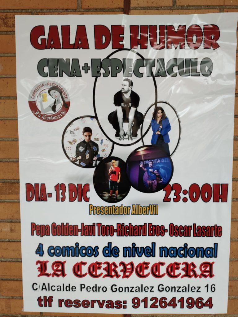 Gala de humor con 4 cómicos en La Cervecera