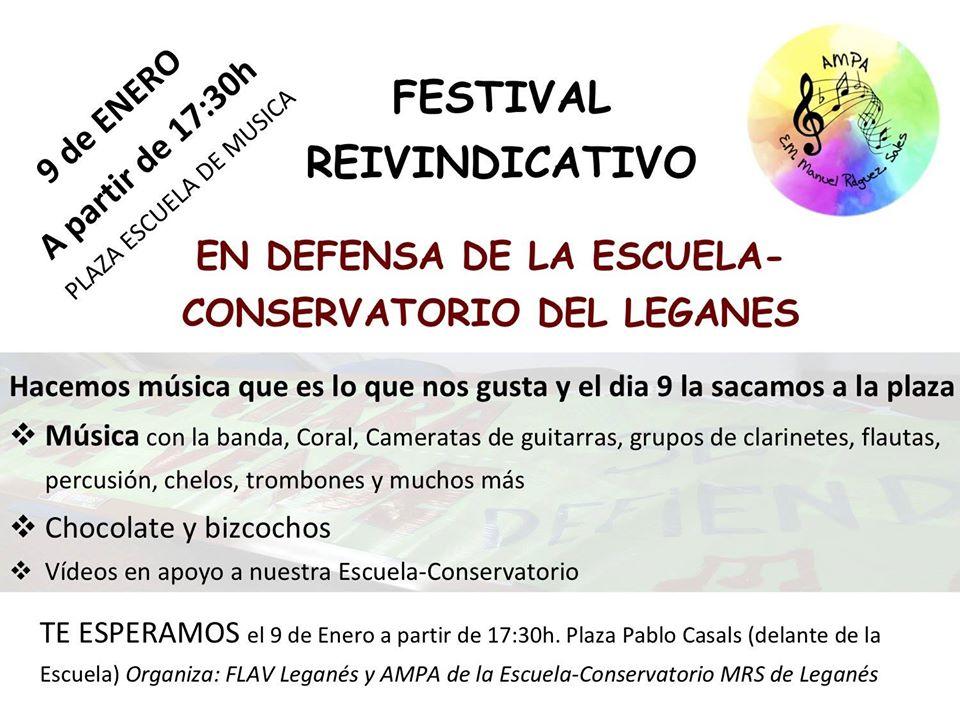 Festival Reivindicativo en Defensa de la Escuela-Conservatorio