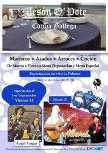 San Valentín y Carnaval en el Mesón O´pote