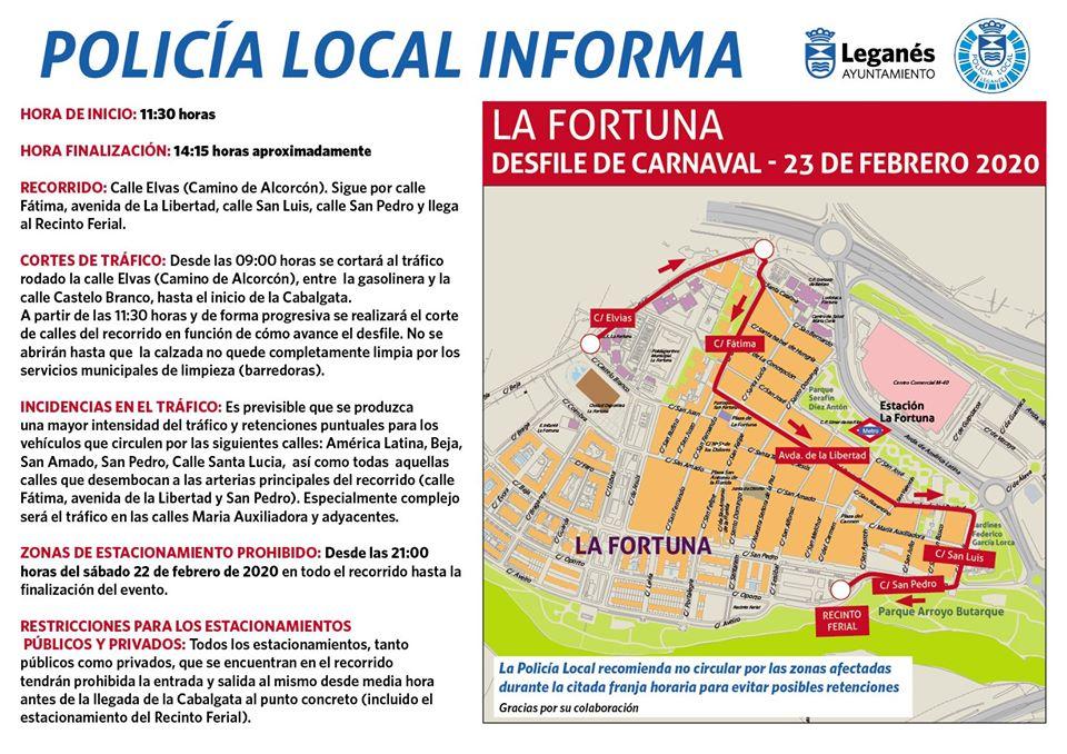 Programación de Carnaval en La Fortuna 2020