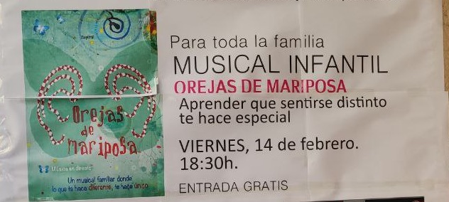 Musical infantil Orejas de Mariposa