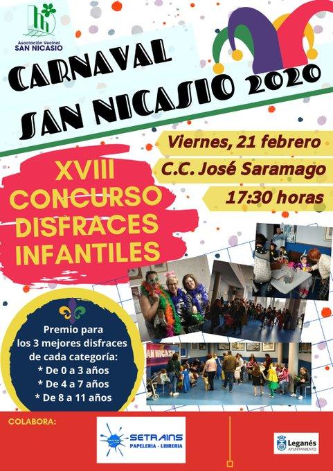 Programa de carnavales en la Asociación de vecinos de San Nicasio