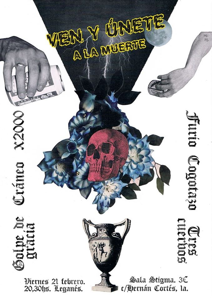 RECITAL ROCKERO: X2000. Golpe De Gracia. Tres Cuervos. Cráneo. Cogotazo. Furio