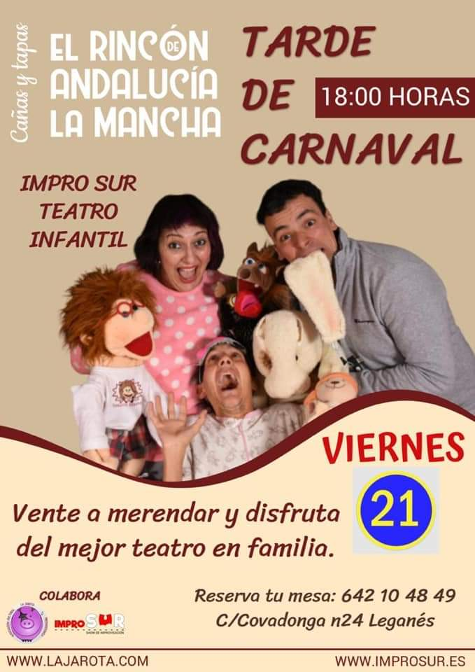 Teatro infantil en el Rincón de Andalucía la Mancha