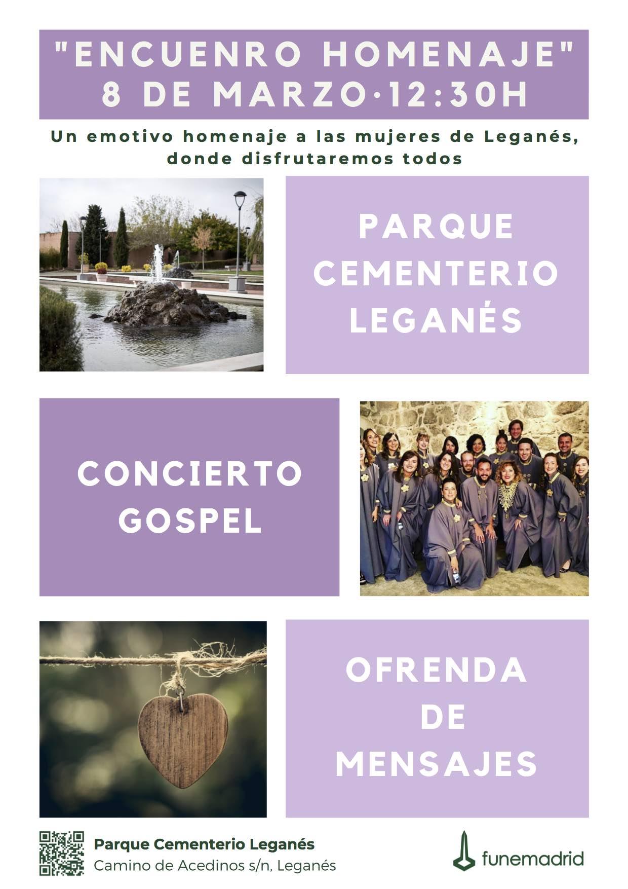 Encuentro homenaje 8 marzo Parque Cementerio Leganés